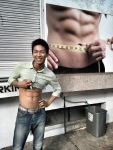 インドで撮った腹筋画像