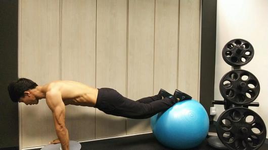 腕、脚を不安定にしたトレーニング